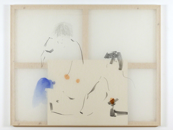 Riccardo Baruzzi, Ordine 15. Hot and wild this amazing foursome, 2014, marker and gouache on cotton and acrylic on paper, 120x150 cm