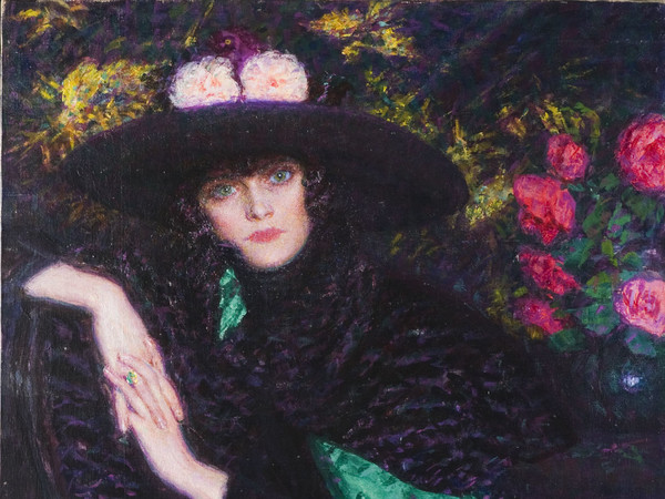 Enrico Lionne, L'attesa, 1919, Olio su tela, 79 x 114 cm, Novara, Galleria d'Arte Moderna Giannoni