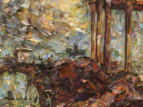 Vik Muniz, Landscape with Ruins, after Francesco Guardi (Repro), 2017