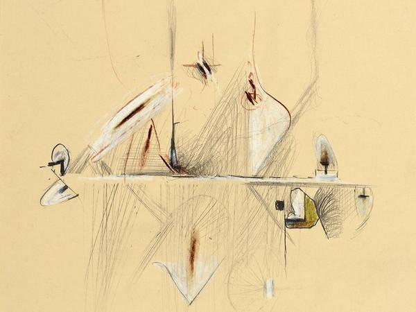 Pirro Cuniberti, <em>Quel giardino ricusato dalle viole</em>, 12.4.2004, Tecnica mista, 21 x 29.6 cm | Courtesy of Galleria d'Arte Maggiore G.A.M., Bologna | Foto: Michele Sereni, Pesaro<br />
