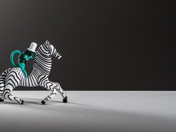 Fulvio Bianconi, Zebra with monkey in opaque polychrome glass, 1948-49