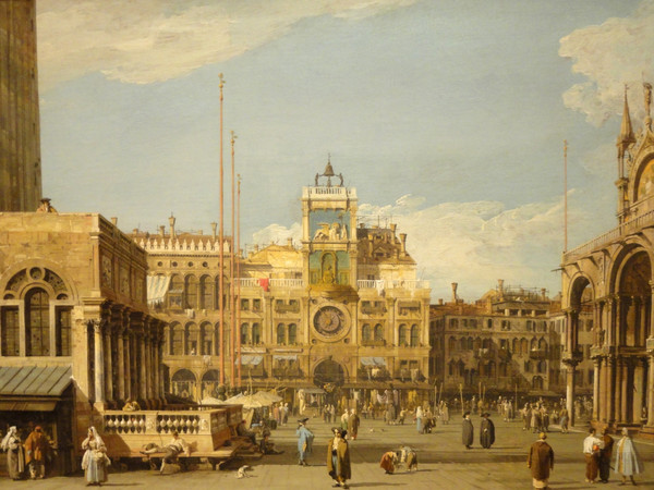 <em>La Torre dell'Orologio in Piazza San Marco, Venezia, </em>1728-1730 <br /> Olio su tela, 69.5 x 52.1 cm, The Nelson-Atkins Museum of Art, Kansas City, Missouri | Acquisto: William Rockhill Nelson Trust, 55-36 | Foto © Melville McLean<br />