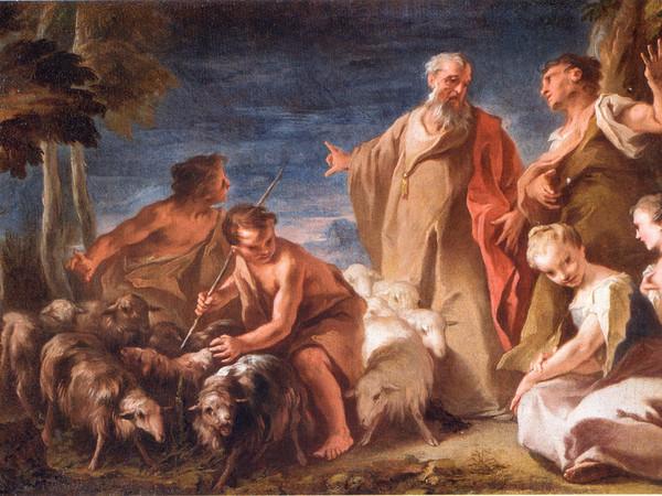 Nicola Grassi, <em>Giacobbe che si accomiata da Labano</em>, 1720-25 circa, Olio su tela, 50 x 34 cm