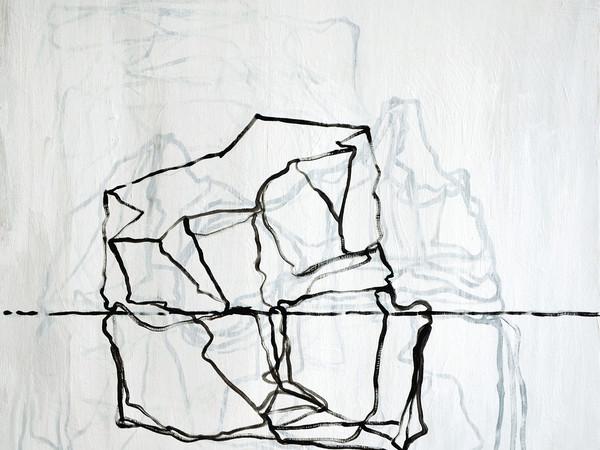 Sergio Sarra, Iceberg 2 (studio n. 1), 2017. Pittura acrilica su tavola, cm. 50x60