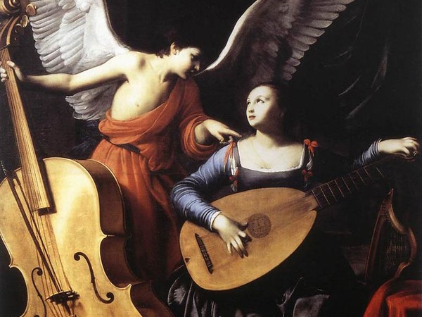 Santa Cecilia e l'angelo