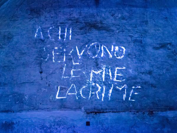 Silvano Tessarollo, A chi servono le mie lacrime, videoinstallazione, Torre Grimaldina di Palazzo Ducale, Genova 2016 | © Galleria Michela Rizzo, Venezia
