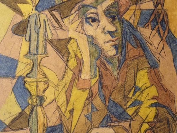 Corrado Cagli, Concertino, 1940, tecnica mista su carta, Roma, collezione privata.