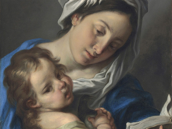 Carlo Cignani, La Madonna leggente col Bambino. Olio su rame, cm 56 x 43