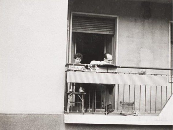 Mario De Biasi, <em>Citta di Milano</em>, 1956, Vintage gelatina ai sali d argento 18 x 18 cm