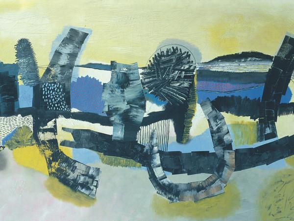 Mattia Moreni, Le dolci colline di Brisighella, 1953, olio su tela, cm. 150x257. CAMeC, La Spezia. Collezione Premio del Golfo
