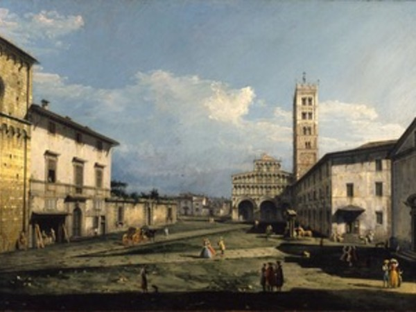 Bernardo Bellotto, Piazza San Martino con la cattedrale, Lucca, 1740. York, City Art Gallery