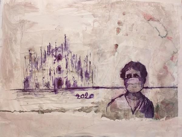 60. Giovanni Cerri, Diario della pandemia, 2020, penna su carta, cm. 35x50