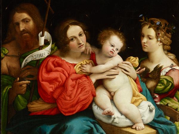 Lorenzo Lotto, Madonna col Bambino e i santi Giovanni Battista e Caterina d'Alessandria, 1522