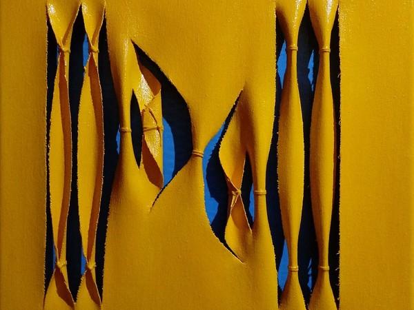 Calogero Salemi, serie GASH ART, Squarci di celeste, 2020, cm. 30x30