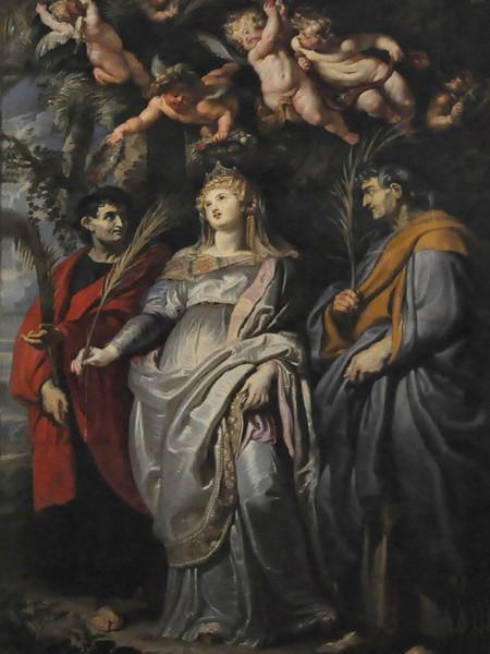 Vergine col Bambino e i Santi Gregorio Magno, Mauro, Papia, Domitilla, Nereo e Achìlleo