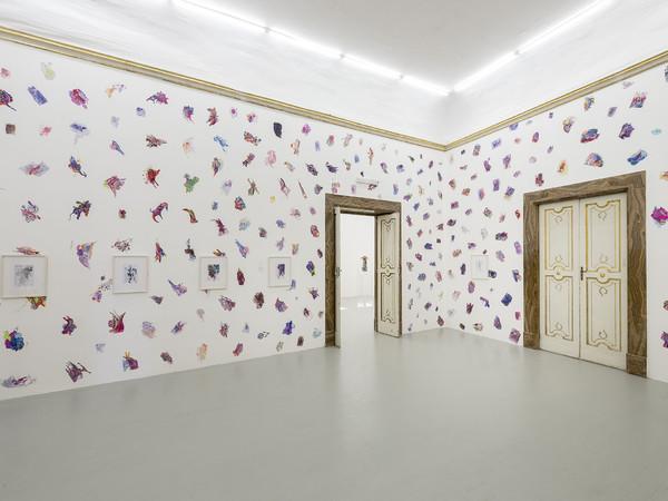 Edi Rama, partial view of the exhibition on May 2016. Galleria Alfonso Artiaco, Napoli