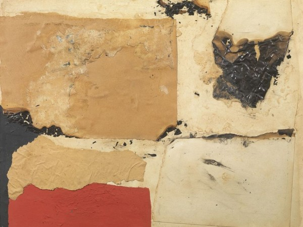 Alberto Burri, Combustione C4, 1959. Carta, acrilico, vinavil, combustione su tela