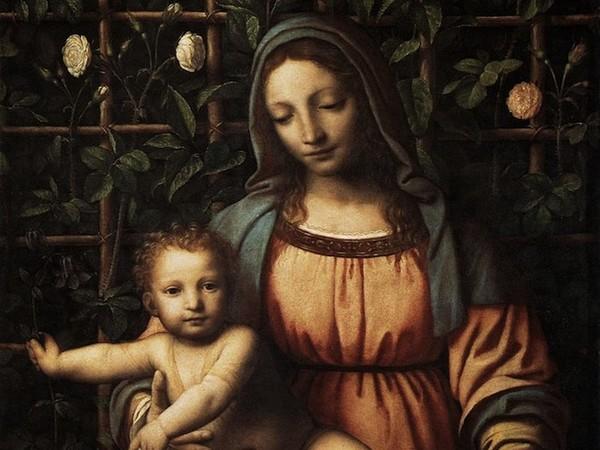 <div class=&quot;column&quot;><span>Bernardino Luini,&nbsp;</span><span>Madonna con il Bambino </span><span>(Madonna </span><span>del roseto),&nbsp;</span><span>1516?1517 circa,&nbsp;</span><span>tavola, cm 70 x 63.&nbsp;Milano, Pinacoteca di Brera</span></div> <br />