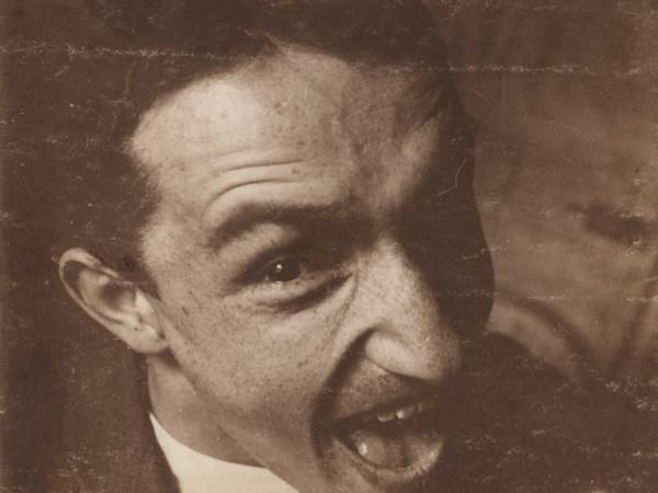 Fortunato Depero, Autoritratto con smorfia, Roma, 11 novembre 1915. Mart, Archivio del '900, Fondo Depero