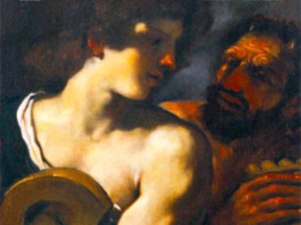 Giovanni Francesco Barbieri detto il Guercino, Apollo e Marsia. Olio su tela, 67 x 58,8 cm