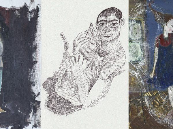Anna Bjerger, Untitled, 2011 / Louis Fratino, Tristan and a cat, 2018 / Waldemar Zimbelmann, Untitled, 2011