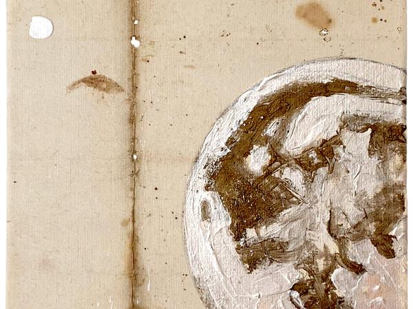 Davide Ragazzi,Moon on paper, acrilici iridescenti su carta antica, 2019