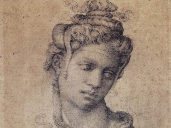 Michelangelo Buonarroti, <em>Cleopatra</em>, 1535 circa. Matita nera, 232 x 182 mm. Casa Buonarroti, Firenze, inv. 2 F