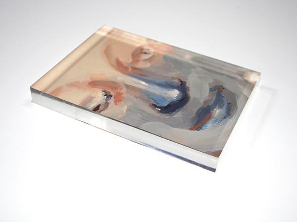 Romina Bassu, Frammento, 2017, acrilico su carta, plexiglass, cm 18x13