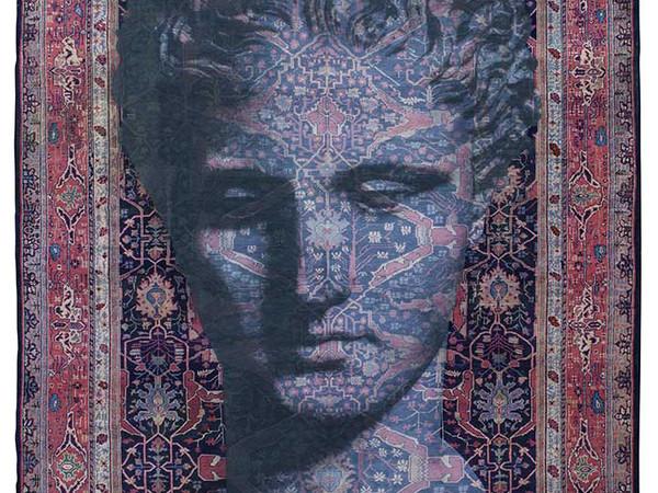 Luca Pignatelli, Persepoli, 2018, tecnica mista su tappeto persiano, cm 370x283