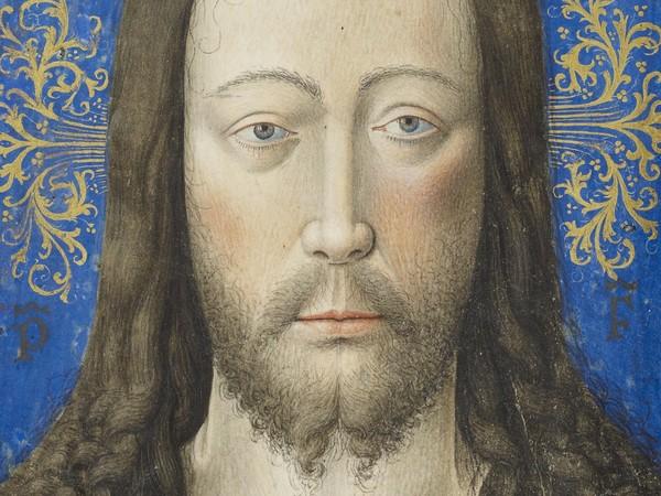 Maître de Jean Chevrot (Bruges, Attivo tra il 1440 e il 1450), Vera Icon, 1450 circa, Tempera sur velina, 159 x 110 mm, The Morgan Library & Museum, New York