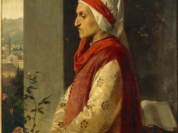 Angelo Pietrasanta, Ritratto di Dante Alighieri, inv. 532
