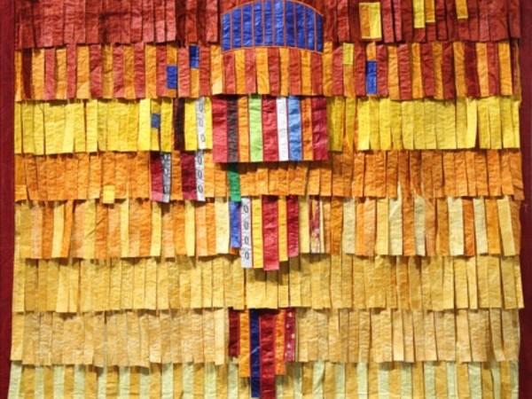 Abdoulaye Konaté, Homme du Sahel, 2015. Textile, cm. 218x145