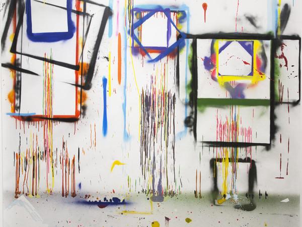 Omar Hassan, L'Essenziale è Invisibile agli Occhi. Mixed media, 180x200 cm.