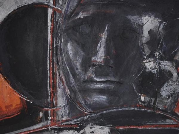 Franco Francese, STUDIO PER L'ATELIER (particolare), 1991, tempera e guazzo, 30x27 cm.