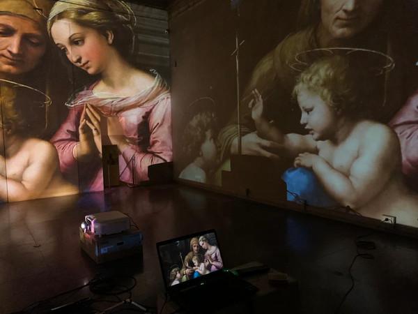 Raffaello in Umbria e la sua eredità in Accademia, Palazzo Baldeschi, Perugia, allestimento multimediale