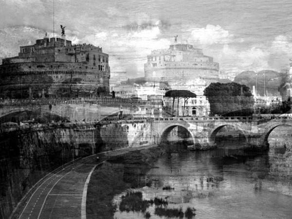 Davide Bramante, Roma, (Castel S.Angelo) 2016, esposizione multipla non digitale, esemplari 5