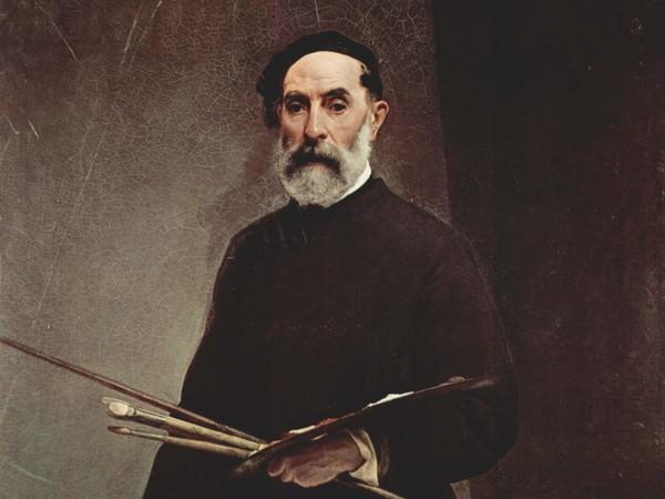 Francesco Hayez, <em>Autoritratto all'età di 69 anni</em>, 1860, Olio su tela, 97 x 124 cm, Gallerie degli Uffizi, Firenze<br />