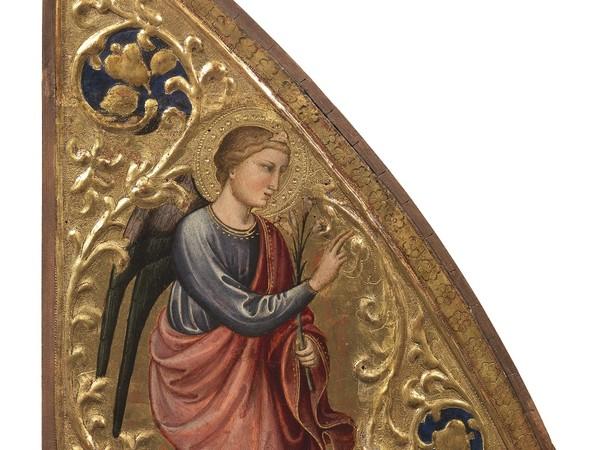 Mariotto di Nardo, Angelo annunziante. Tempere su tavola, 1420 circa. Galleria dell'Accademia di Firenze (acquistato nel 2017)