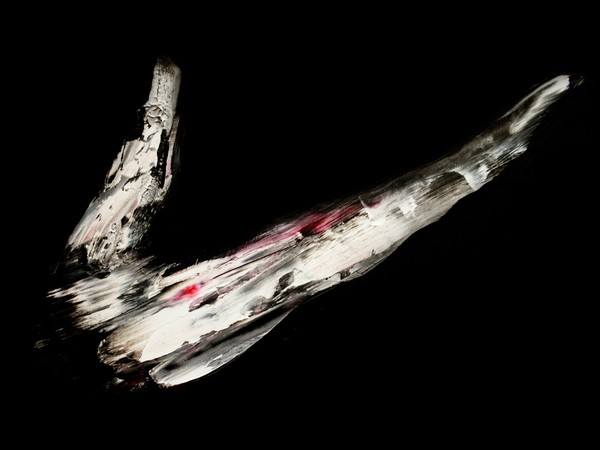 Lorenzo Puglisi, Crocifissione, 2020, olio su tavola di pioppo, 258x193 cm., dettaglio