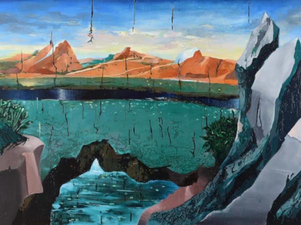 Oren Eliav, Valley, 2020, olio su tela, 180x260 cm. I Ph. Michele Alberto Sereni