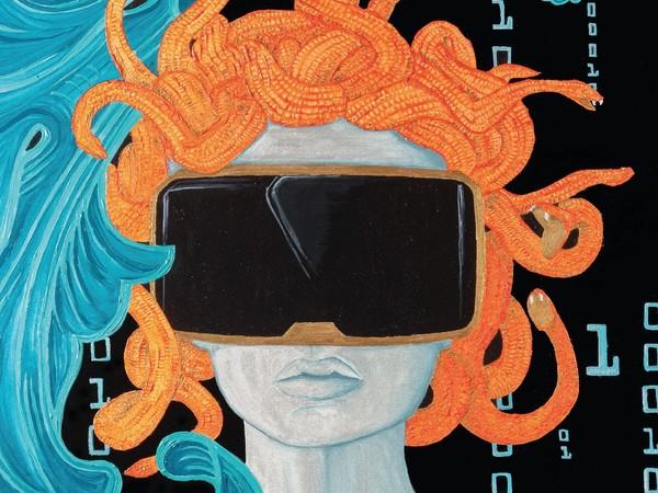 Luisa Valeriani, Medusa, acrilico e pantone su tela, 50x100 cm.