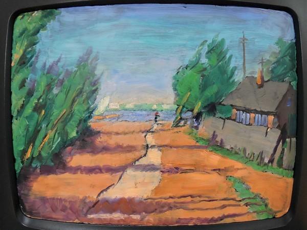 Ilya Kabakov & Kabakov, Object TV 3/7, 2013, olio su TV, cm. 85x36x36