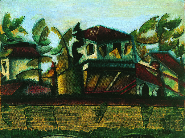 Ottone Rosai, <em>Follie estive</em>, 1918, Olio su tela, 44 x 49 cm, Collezione privata<br />