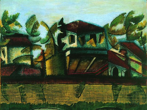 Ottone Rosai, Follie estive, 1918. Olio su tela, cm. 44x49