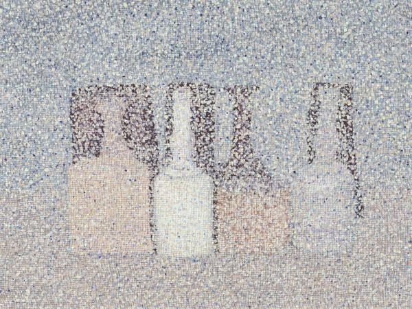 Sam Havadtoy, <em>Untitled</em>, 2014, Tecnica mista, pizzo e acrilico su pannello di alluminio, 120 x 108 cm
