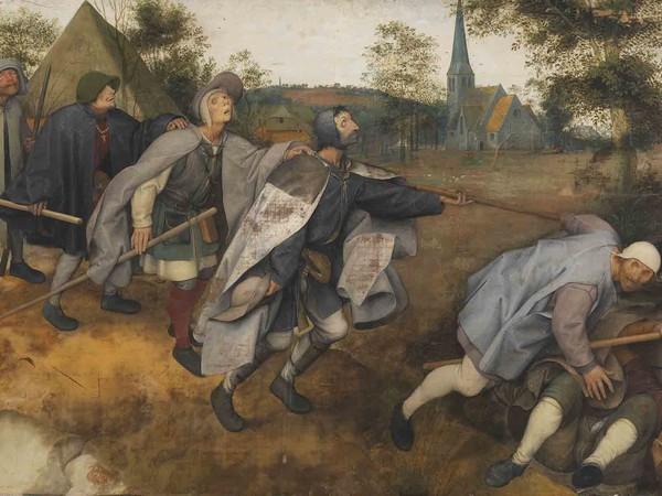 Pieter Bruegel Il Vecchio, La parabola dei ciechi, 1568, tempera magra su tela di lino. Collezione Farnese