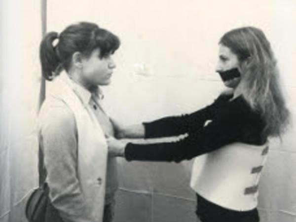Sanja Iveković, Inaugurazione alla Tommaseo, (performance), 1977