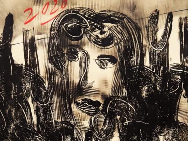Silvio Pasqualini, <em>Cosmografie. Quarentenam 2020</em>, Mixed media su carta intelata, 140 x 100 cm, Venezia 2020
