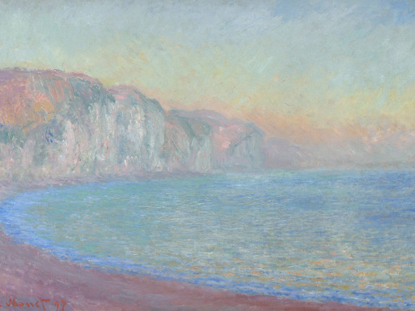 Claude Monet,Falaise à Pourville, soleil levant, 1897, Olio su tela | Courtesy of Fondazione Magnani-Rocca 2020