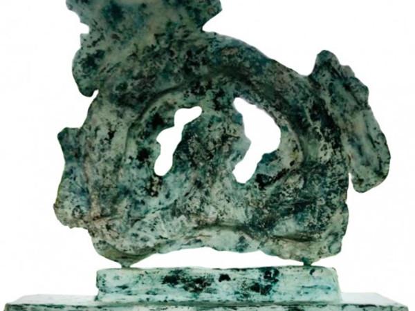Alessandro Twombly, Umanità Incrostata, 2020, bronzo, 120x123x37 cm.